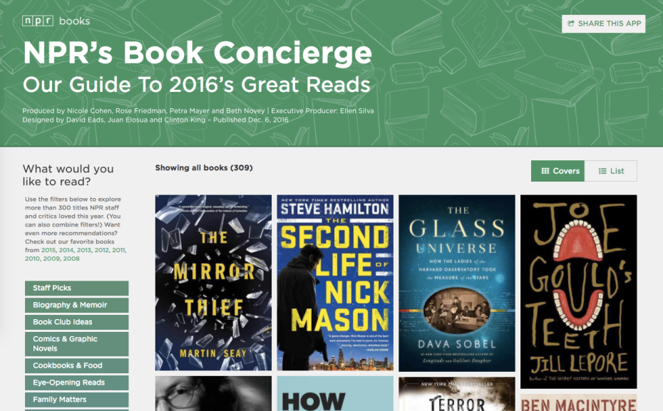 NPR Book Concierge page