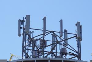 antenna array on building